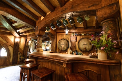 Interior view of a Hobbiton in New Zealand