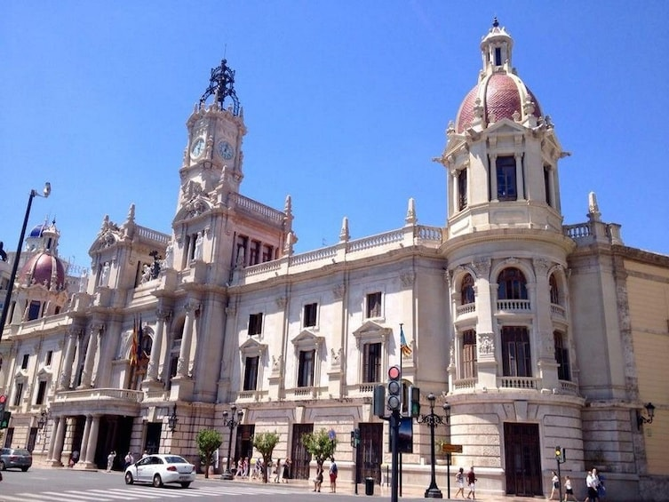 Show item 4 of 4. Building with clock tower in Valencia