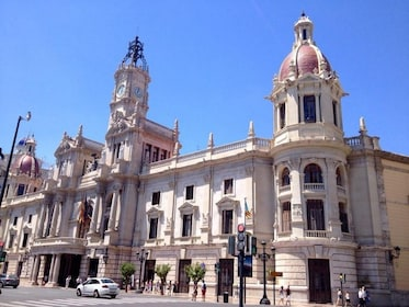 Building with clock tower in Valencia