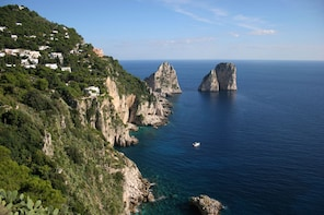 Capri Island with Blue Grotto from Naples
