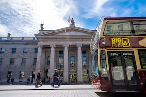 Busstur med hop-on/hop-off i Dublin