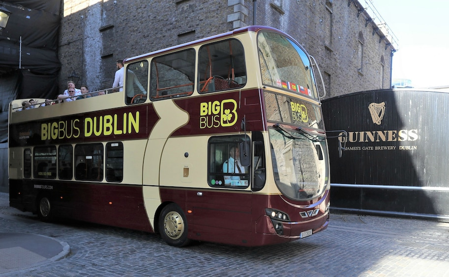 Show item 2 of 9. Dublin Hop-On Hop-Off Bus Tour in front of the Guinness Storehouse in Dublin