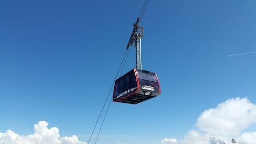 Ski lift in Chamonix