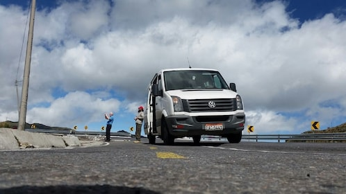 White van in Quito