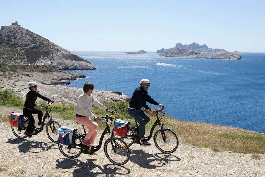 Show item 2 of 6. Biking group on the coast in Marseilles