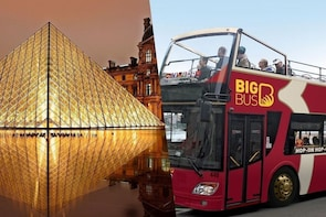 Louvre Museum with host & Big Bus 2-Day Pass
