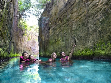 Group on a Xcaret Eco Waterpark Tour