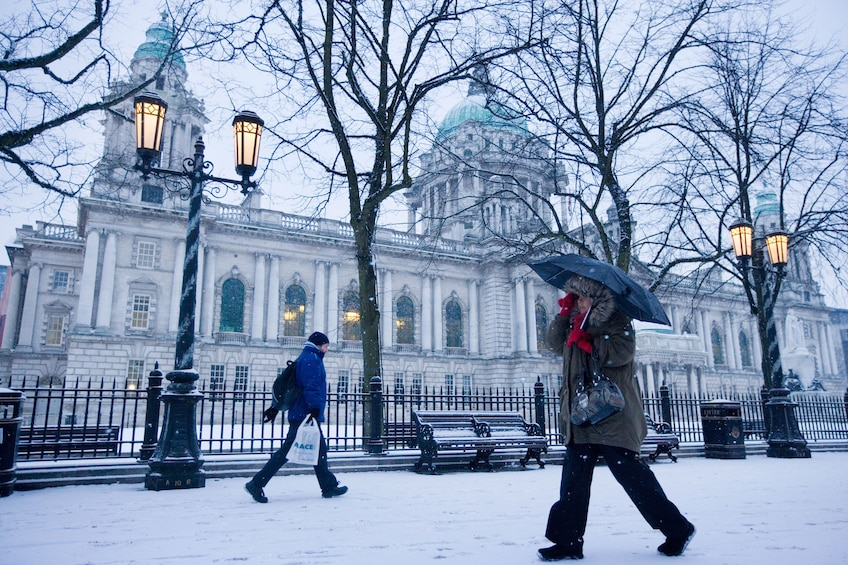Belfast City Hall during the winter time