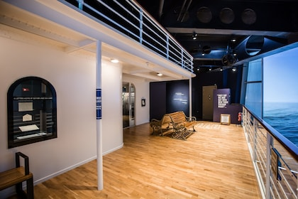 Recreation of the deck of the Titanic at the Titanic Experience in Ireland