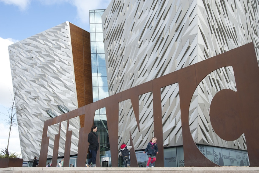 Exterior for the building at the Titanic Experience in Ireland