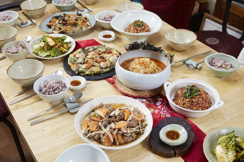 Show item 3 of 7. Korean Home Cooking Class and Exploring Local Market Tour