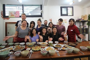 Korean Home Cooking Class and Exploring Local Market Tour