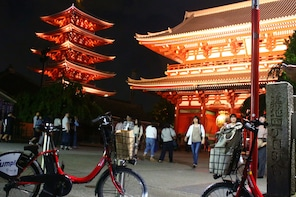 Tokyo hidden spots at night with e-bikes