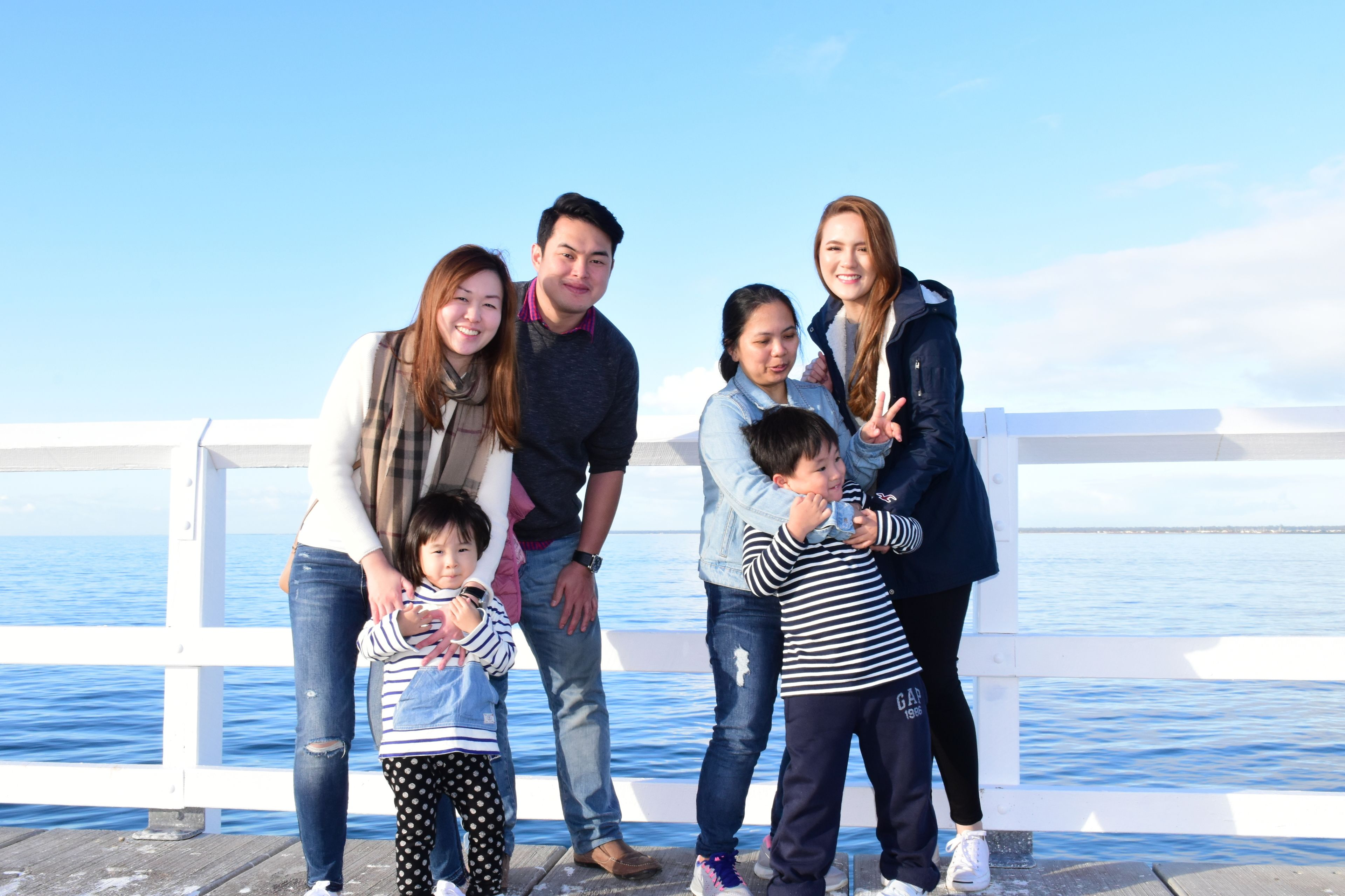 Family visiting Busselton Jetty