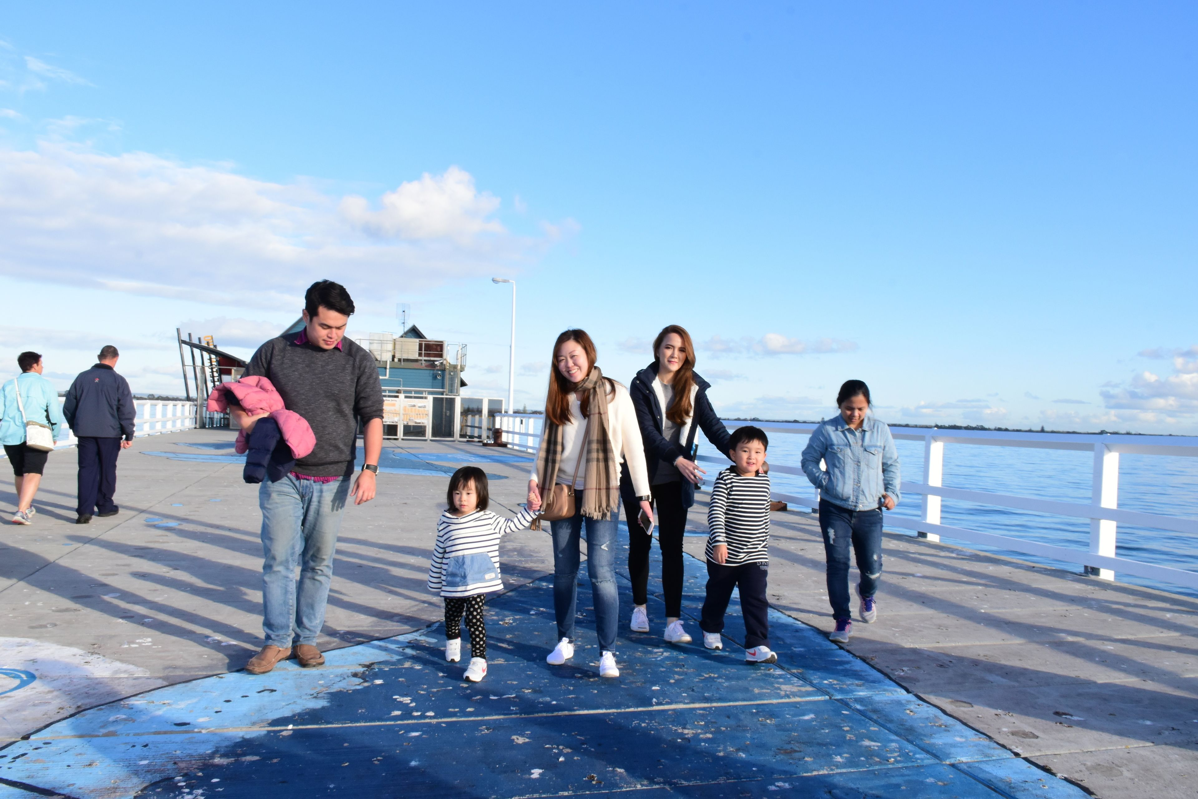 Family on a Busselton Jetty visit