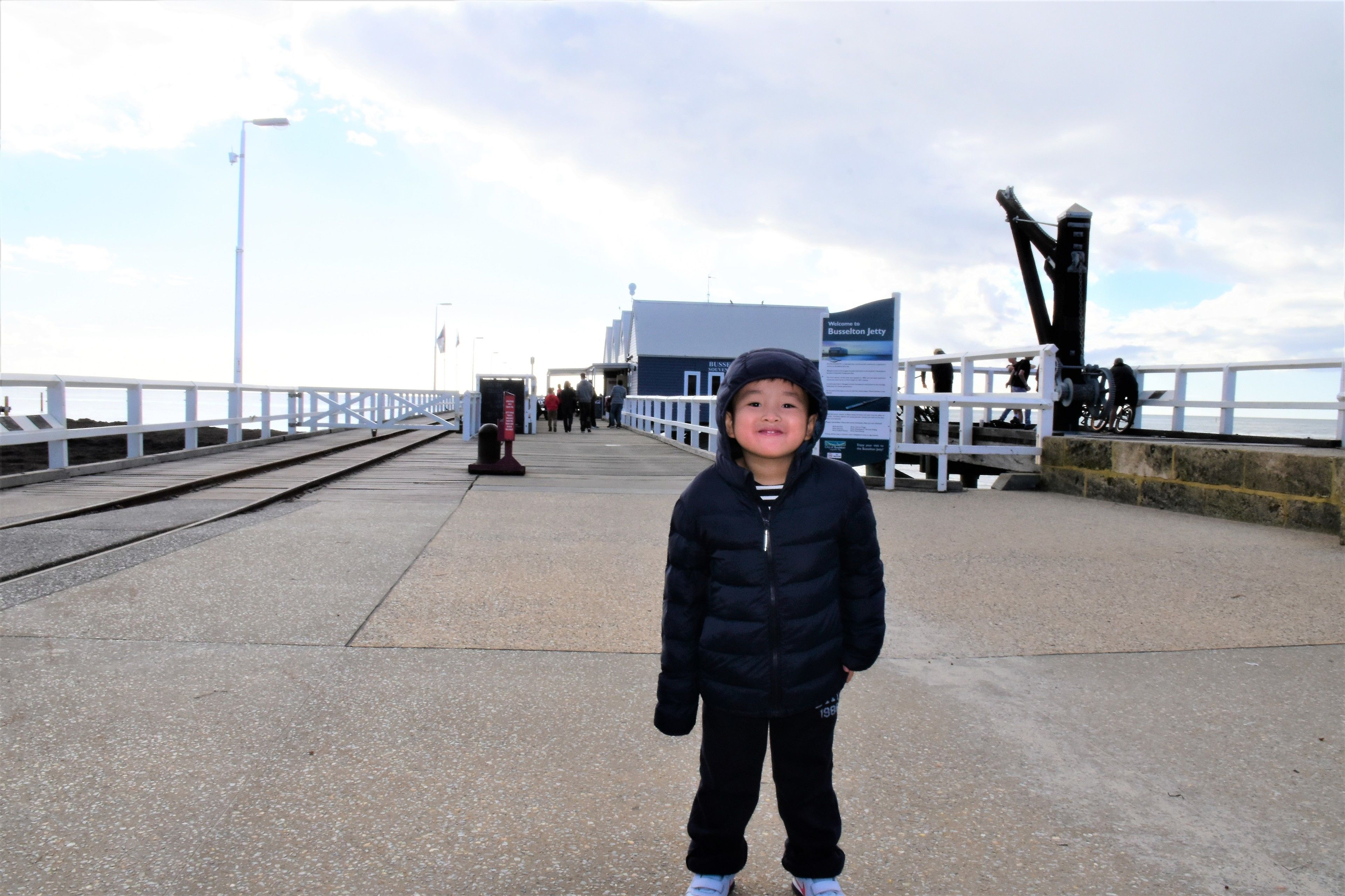 Child happy at Busselton Jetty