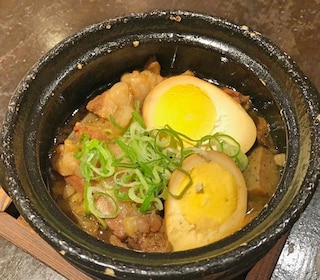 Meat and egg dish in Kyoto