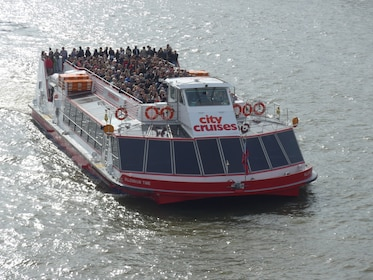 Day view of the City Cruises boat on the River Thames