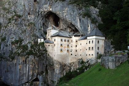 Mountain side castle in Slovenia