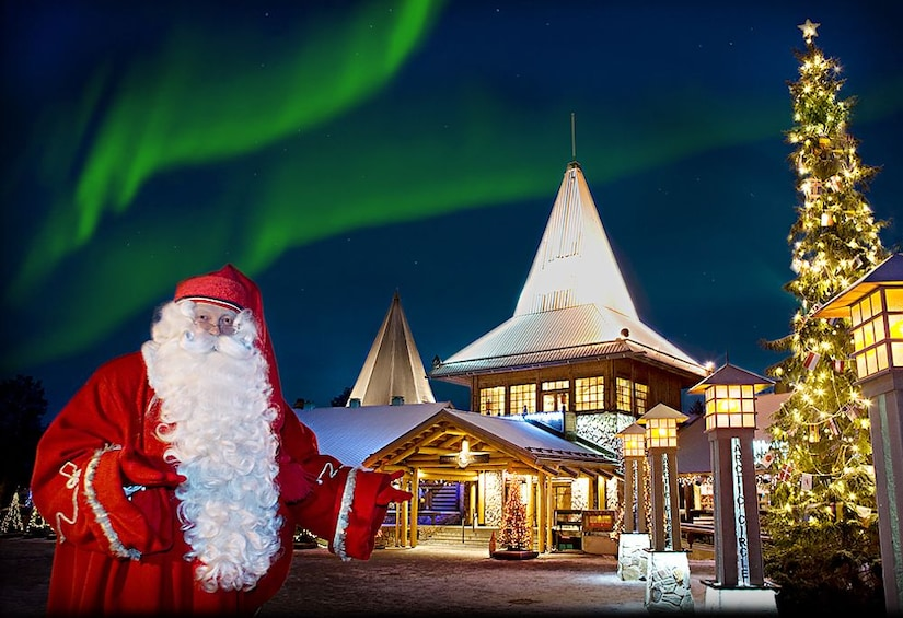 Show item 1 of 8. Santa Claus Village, Arctic Circle and Lappish Buffet