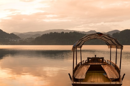 Boat docked at Lake Bled