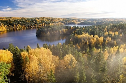 Aerial day view over Rovaniemi