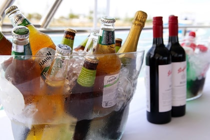 Beverages on a boat in Mandurah
