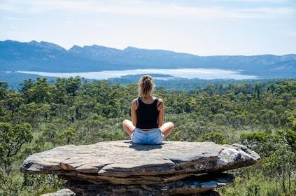 Woman relaxing at Grampians National Park in Australia