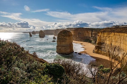 12 Apostles rock formations off the coast of Australia