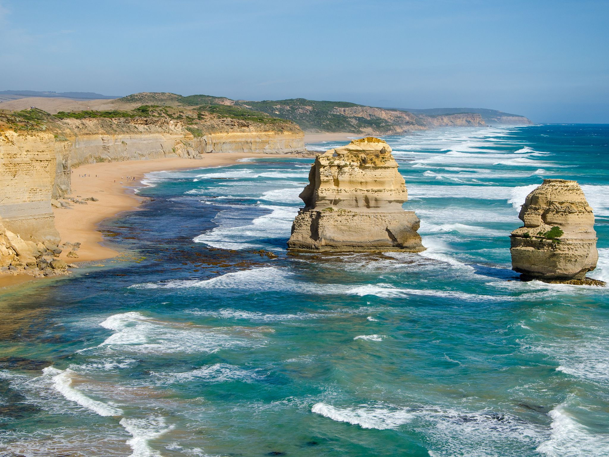 Rock formations off the coast of Australia