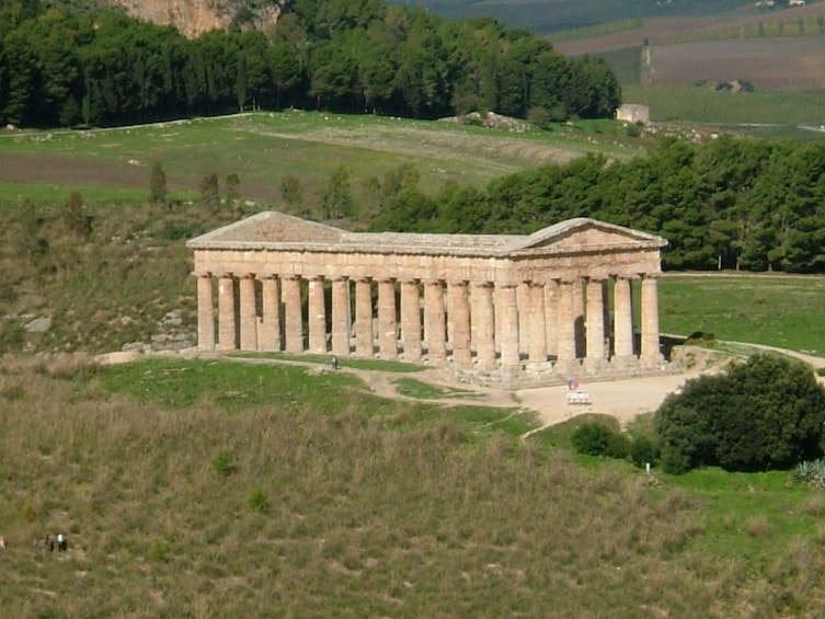 Ruins of a temple in Segesta