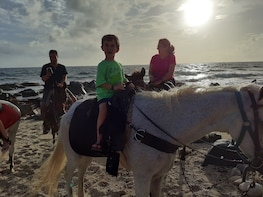 Hoof Prints Trail Aruba Sunset Private Horseback Riding