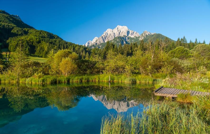 Show item 2 of 7. Lake in Kranjska Gora, Slovenia
