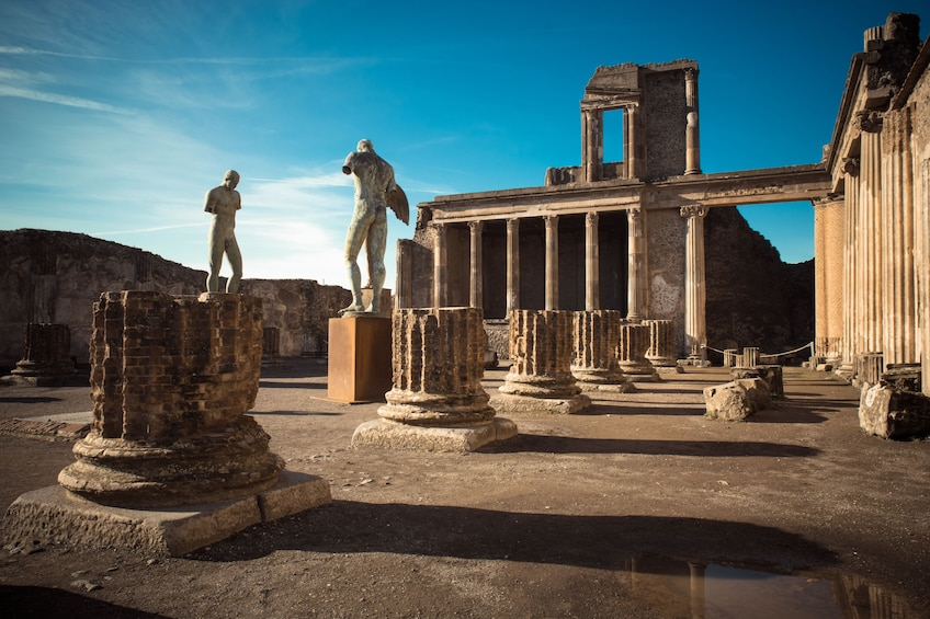 Show item 1 of 10. Pompeii from Rome: Day Trip to Pompeii & Sorrento