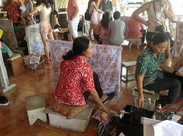 View of the 'Batik' (fabric dyeing) at a local art center in Bali
