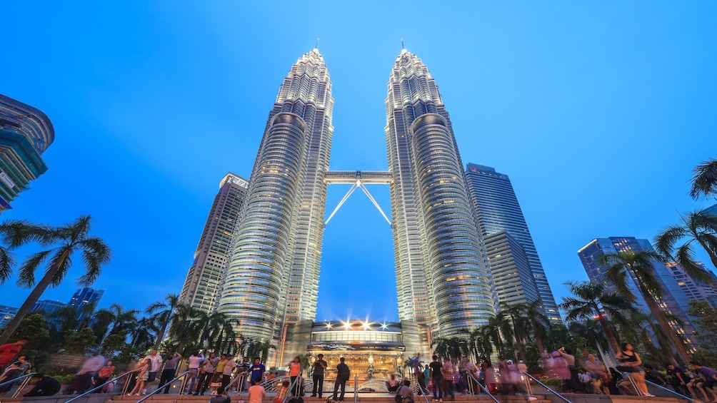 Show item 3 of 4. Petronas Twin Towers in the evening