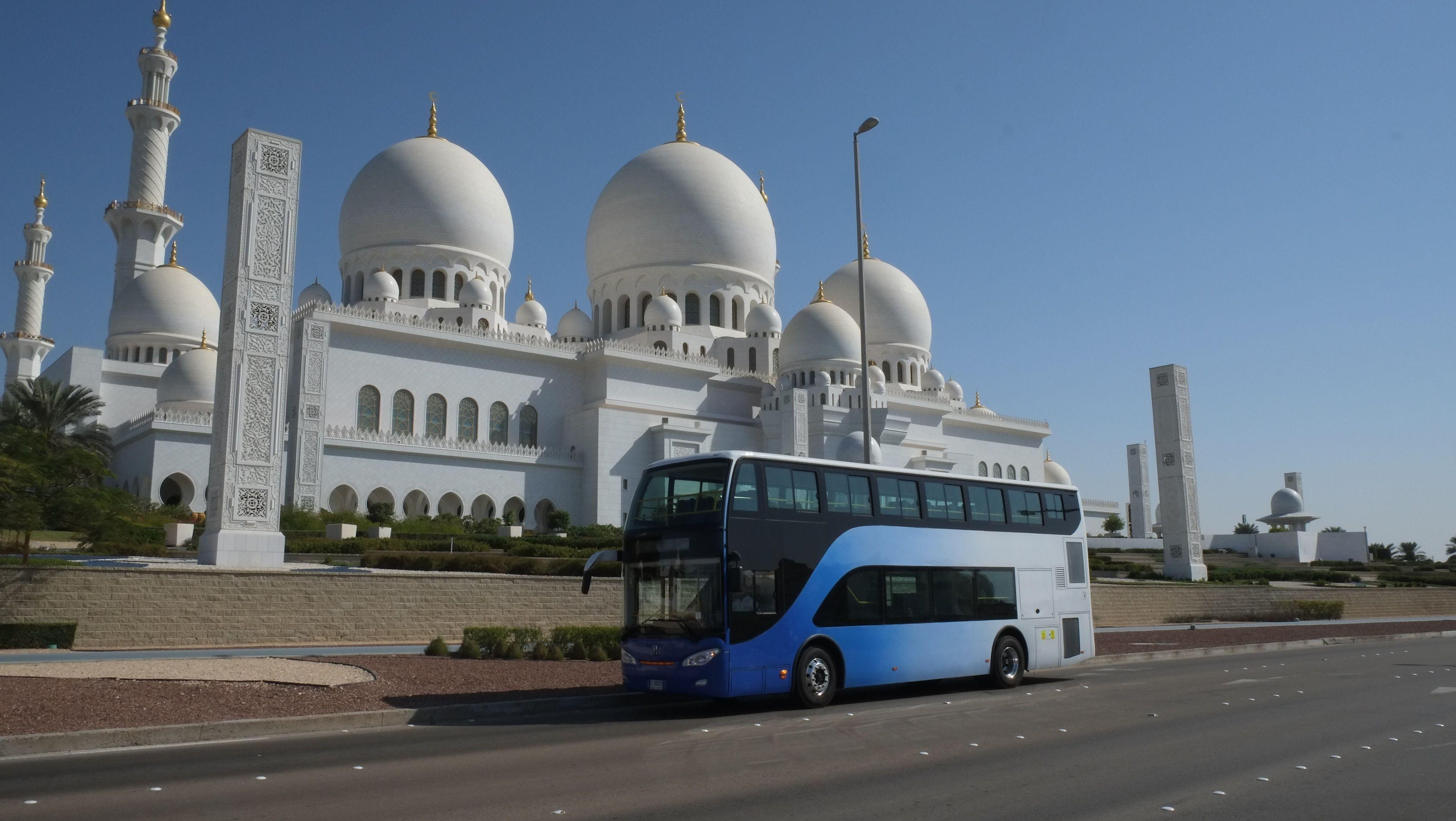 Abu Dhabi City Tour in a Double Decker Bus from Dubai