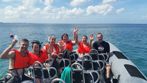 Snorkel group on a boat