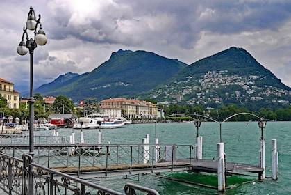 Lake Como and mountains