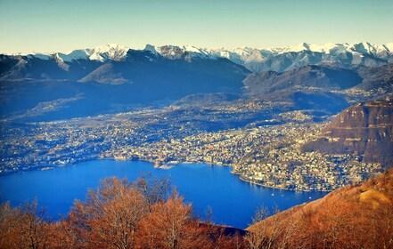Panoramic view of Lake Como and surrounding mountains