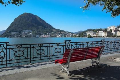 Bench on the shore of Lake Como