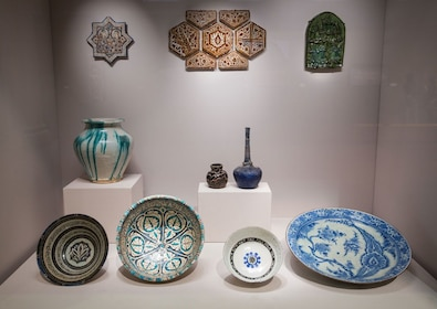 Blue and white porcelain at the Asian Civilisations Museum in Singapore