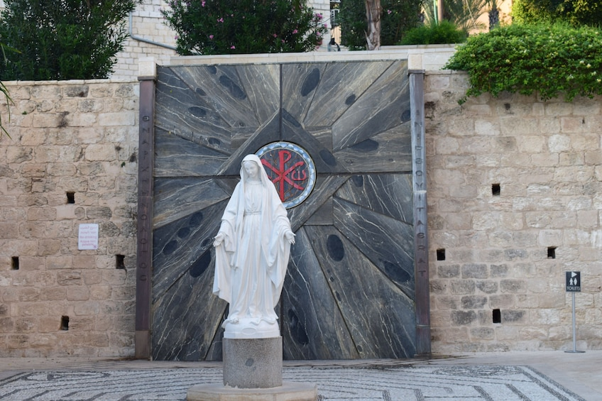 Show item 2 of 10. Statue of the Virgin Mary at the Basilica of Annunciation