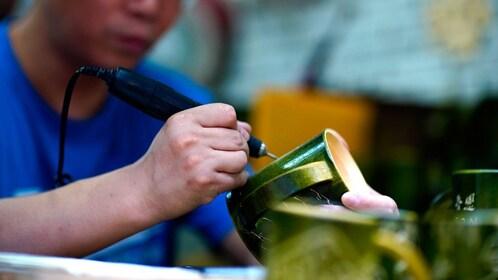 Local making art in Jinshan village