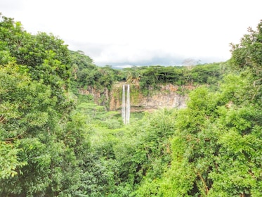 Chamarel Waterfalls in the jungle of Mauritius island