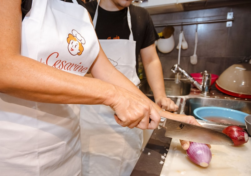 Private Market tour + Cook + Dine in a local home in Parma