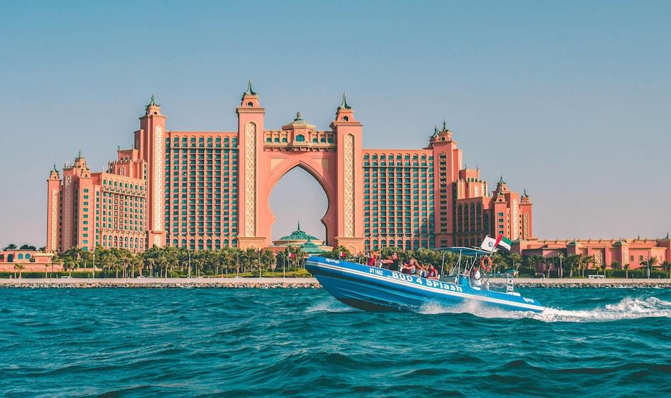 Show item 1 of 10. 1.5-Hour Speedboat Tour Dubai Marina, Atlantis, Burj Al Arab