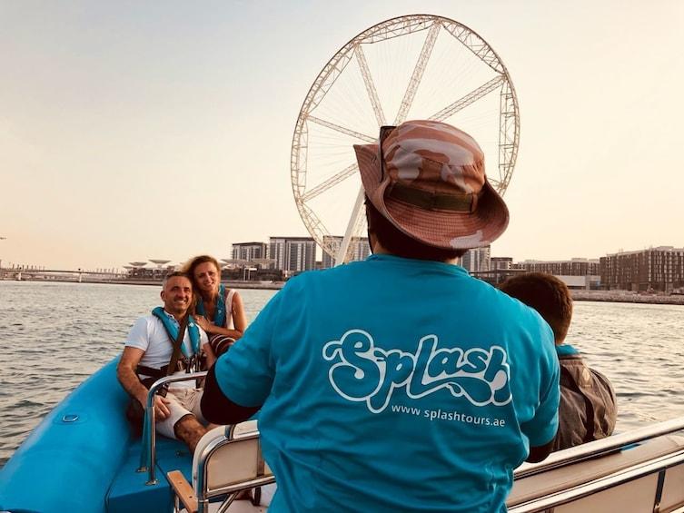 Show item 10 of 10. 1.5-Hour Speedboat Tour Dubai Marina, Atlantis, Burj Al Arab
