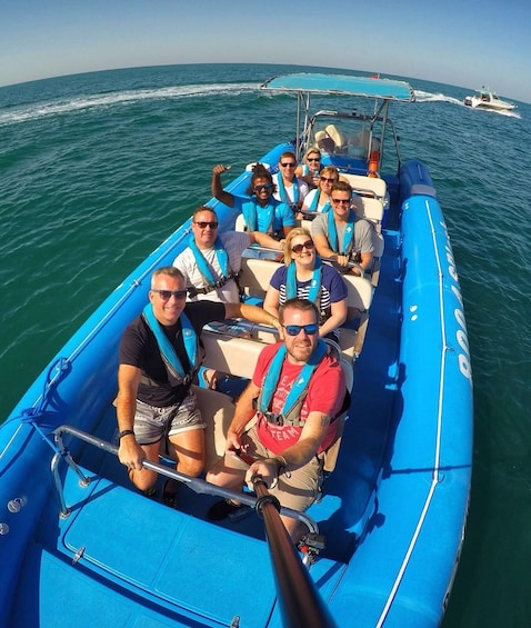 Show item 2 of 10. 1.5-Hour Speedboat Tour Dubai Marina, Atlantis, Burj Al Arab