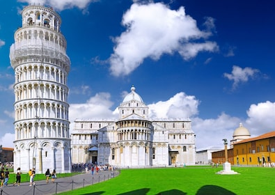Cathedral, Baptistery and Tower of Pisa in Miracle square.jpg